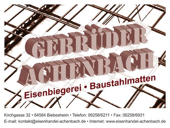 Gebrüder Achenbach - Eisenbiegerei - Baustahlmatten